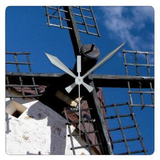 Wind mill in Consuegra, Toledo Wall Clock