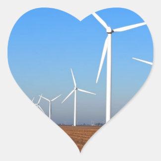 Wind mills.JPG Heart Sticker