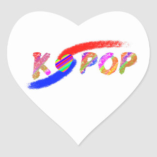 Wind of K-pop Heart Sticker