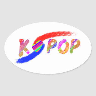 Wind of K-pop Oval Sticker