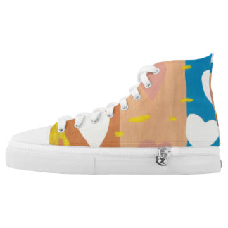 Wind of Love High Tops Printed Shoes