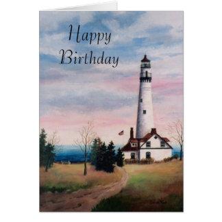 Wind Point Light Birthday Card