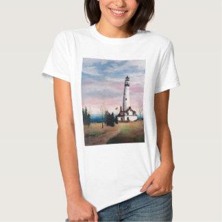 Wind Point Lighthouse Ladies Tshirt