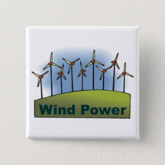 Wind Power 15 Cm Square Badge