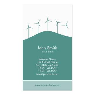 Wind power - aqua turbines business card template