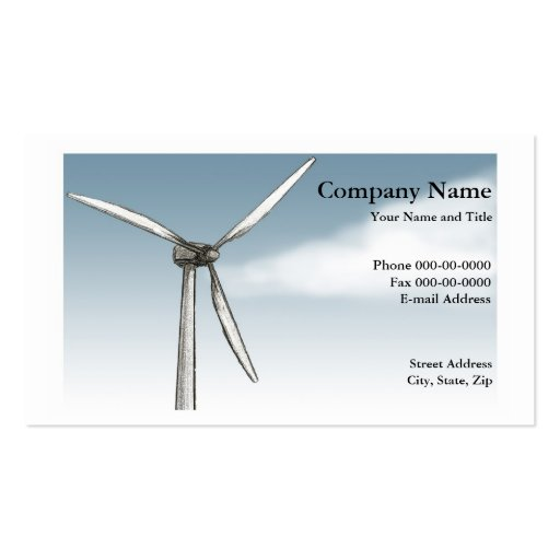 Wind Power Business Card