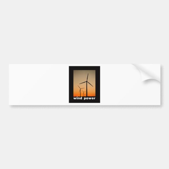 Wind Power design! Bumper Sticker