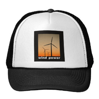 Wind Power design Trucker Hats