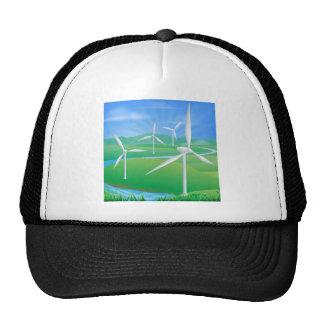 Wind power energy illustration mesh hat