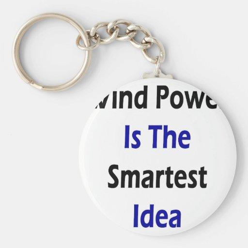 Wind Power Is The Smartest Idea Key Chain