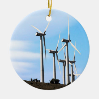Wind Power Mojave Tehachapi Wind Farm Christmas Ornament