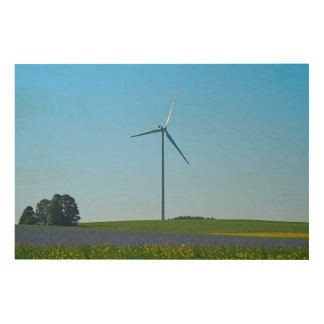 Wind Power Plant - Wood Wood Print