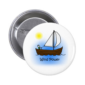 Wind Power Sailboat - Button
