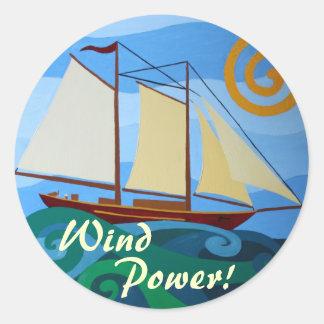 Wind Power Round Sticker