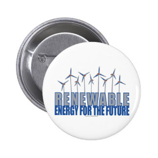 Wind Power Turbines 6 Cm Round Badge