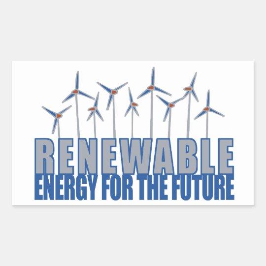 Wind Power Turbines Rectangular Sticker