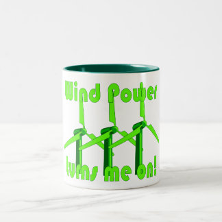 Wind Power Turns Me On Two-Tone Coffee Mug