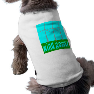Wind Power With Turbines And Sky Dog Tee