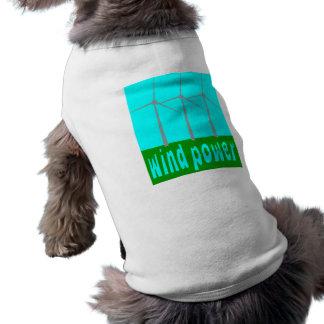 Wind Power With Turbines And Sky Sleeveless Dog Shirt