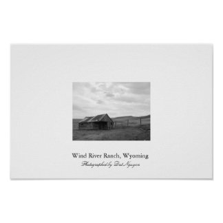 Wind River Ranch, Wyoming Poster
