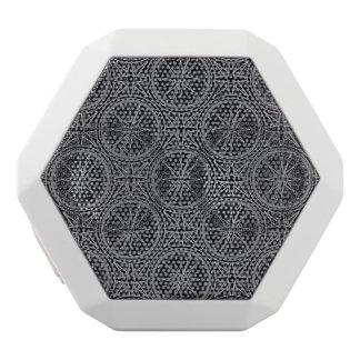 Wind Rose Compass Pattern White Bluetooth Speaker