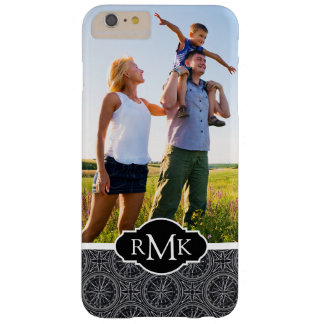 Wind Rose Compass Pattern| Your Photo & Monogram Barely There iPhone 6 Plus Case