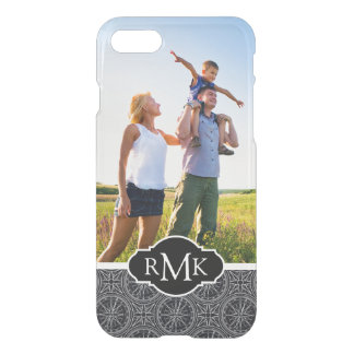 Wind Rose Compass Pattern| Your Photo & Monogram iPhone 8/7 Case