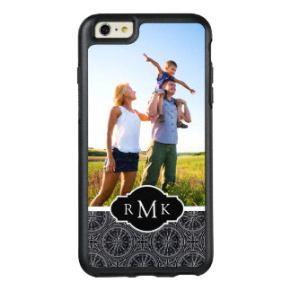 Wind Rose Compass Pattern| Your Photo & Monogram OtterBox iPhone 6/6s Plus Case