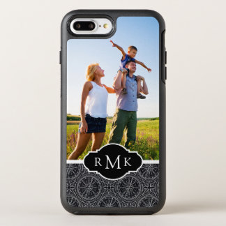 Wind Rose Compass Pattern| Your Photo & Monogram OtterBox Symmetry iPhone 8 Plus/7 Plus Case