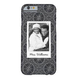 Wind Rose Compass Pattern | Your Photo & Name Barely There iPhone 6 Case