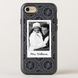Wind Rose Compass Pattern | Your Photo & Name OtterBox Symmetry iPhone 8/7 Case
