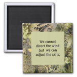 Wind & Sails quotation with earth tone frame Magnets