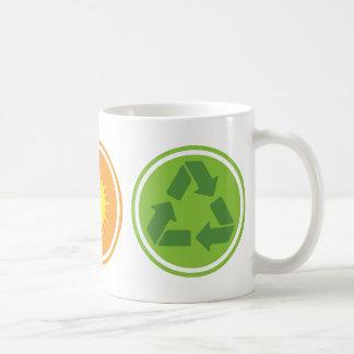 Wind Solar Recycle Organic Planet Mugs