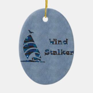 Wind Stalker Ceramic Oval Decoration
