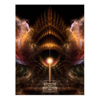 Wind Storm Fractal Art Post Card