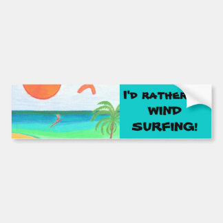 Wind Surfing Bumper Sticker