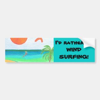 Wind Surfing Bumper Sticker