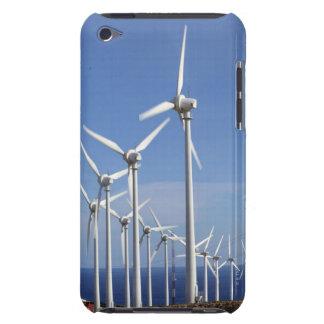 Wind turbine against blue sky and sea iPod Case-Mate case