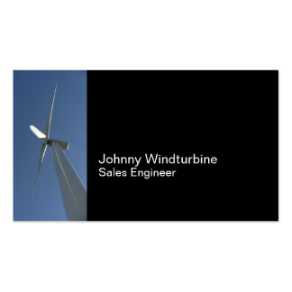 Wind turbine and blue sky pack of standard business cards