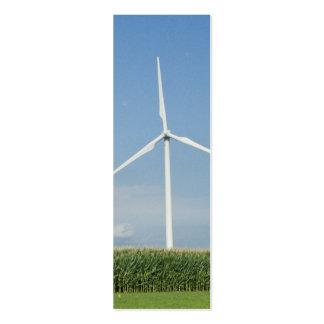 Wind Turbine Bookmark Business Card Templates