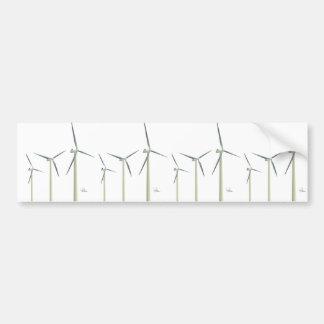 Wind Turbine Bumper Sticker