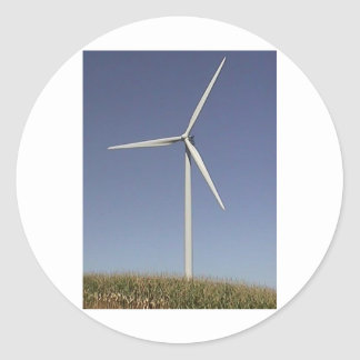Wind Turbine Classic Round Sticker
