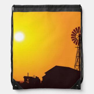 Wind Turbine Drawstring Bag