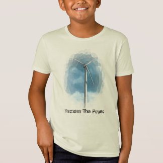 WIND TURBINE GO GREEN SHIRT: Harness The Power T-Shirt