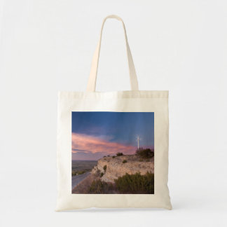 Wind Turbine in west Texas at Sunset Bag