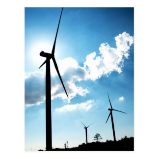 Wind turbine postcard