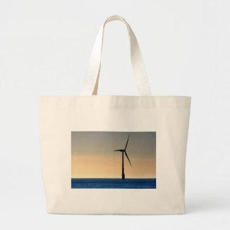 Wind Turbine Tote Bags