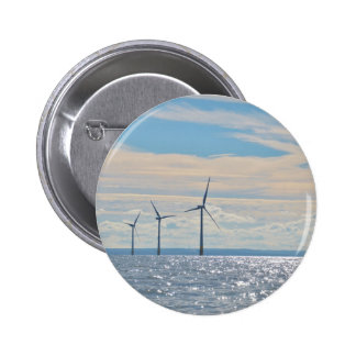 Wind Turbines 6 Cm Round Badge