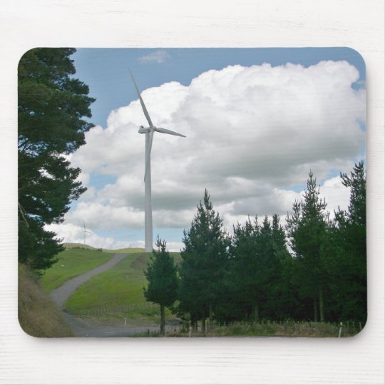 Wind turbines in countryside mouse pad