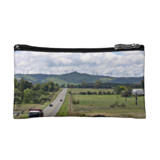 Wind turbines installed on mountain makeup bag